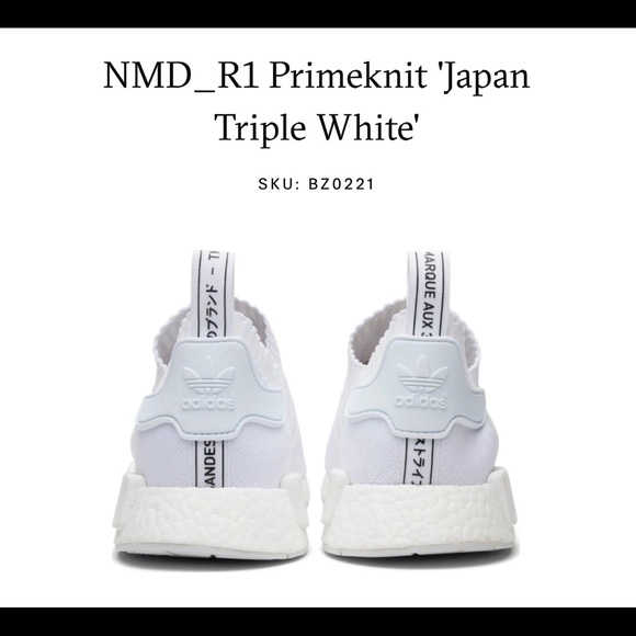 Adidas Triple Nwt Japanese Pack White Nmd R1 zMGSULVpjq